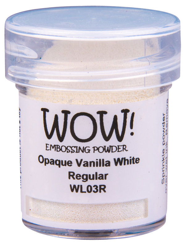 "WOW! Embossing Powder ""Vanilla White"" (15ml, Regular)"
