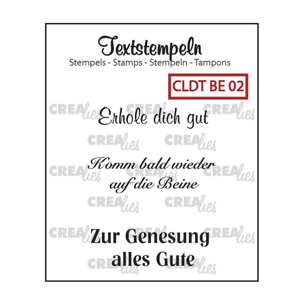 "Crealies - Clear Stamps ""Erhole dich gut"""
