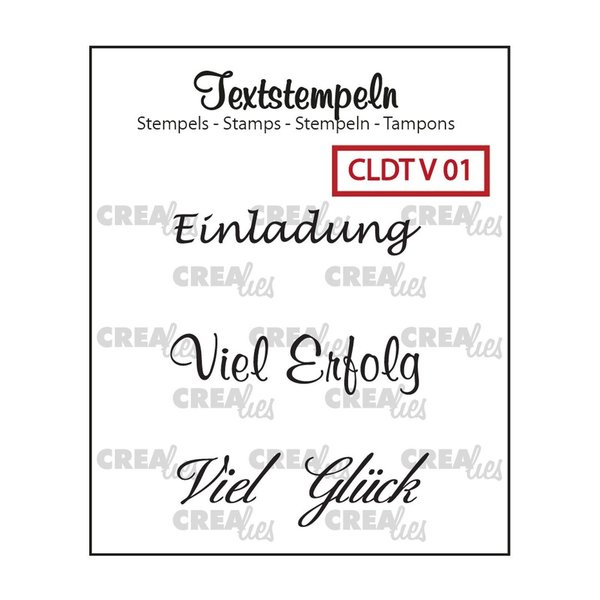 "Crealies - Clear Stamps ""Einladung"""