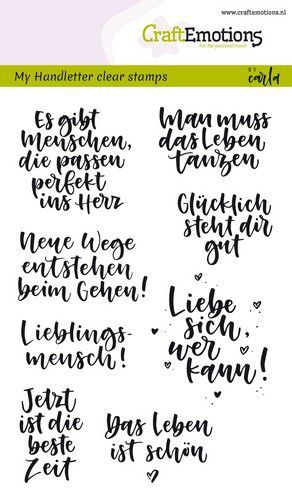 "CraftEmotions - Clear Stamps ""Handletter"" deutsche Texte"