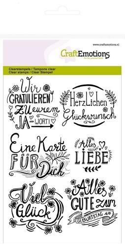 CraftEmotions - A6 Clear Stamps WIR GRATULIEREN