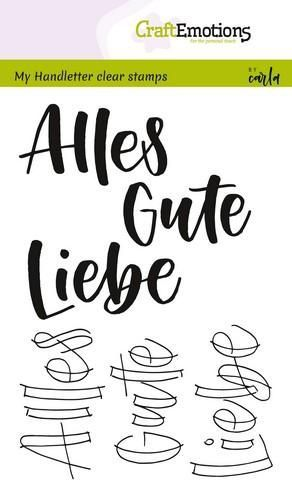 CraftEmotions - A6 Clear Stamps ALLES GUTE
