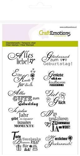 CraftEmotions - A6 Clear Stamps GLÜCKWUNSCH 2