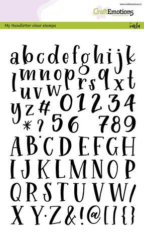 CraftEmotions - A5 Clear Stamps HANDLETTER ALPHABET